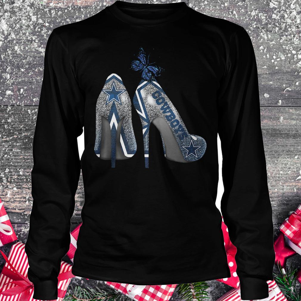 Dallas Cowboys Rhinestone heel shirt Longsleeve Tee Unisex