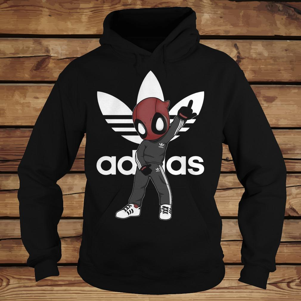 Deadpool And Adidas shirt Hoodie