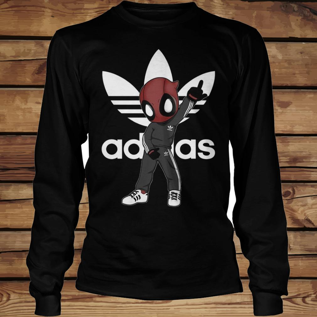 Deadpool And Adidas shirt Longsleeve Tee Unisex