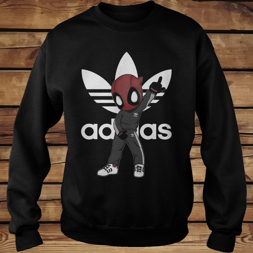 Deadpool And Adidas Shirt Sweatshirt Unisex.jpg