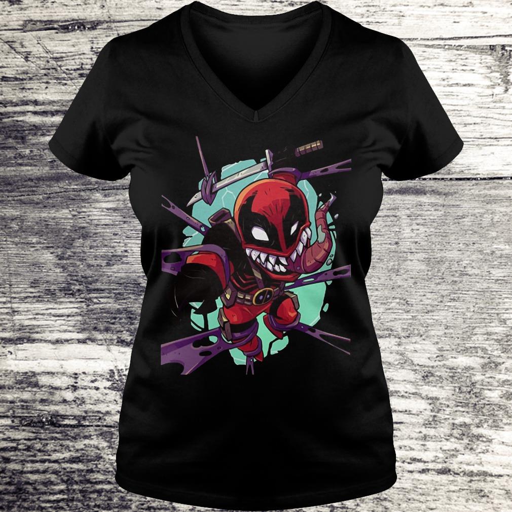 Deadvenom Deadpool X Venom Mashup Shirt Ladies V-Neck