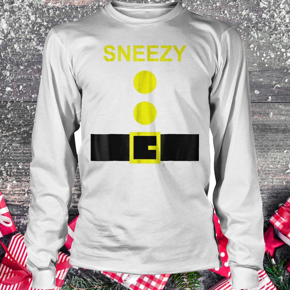 Dwarf Costume Sneezy funny Halloween shirt Longsleeve Tee Unisex