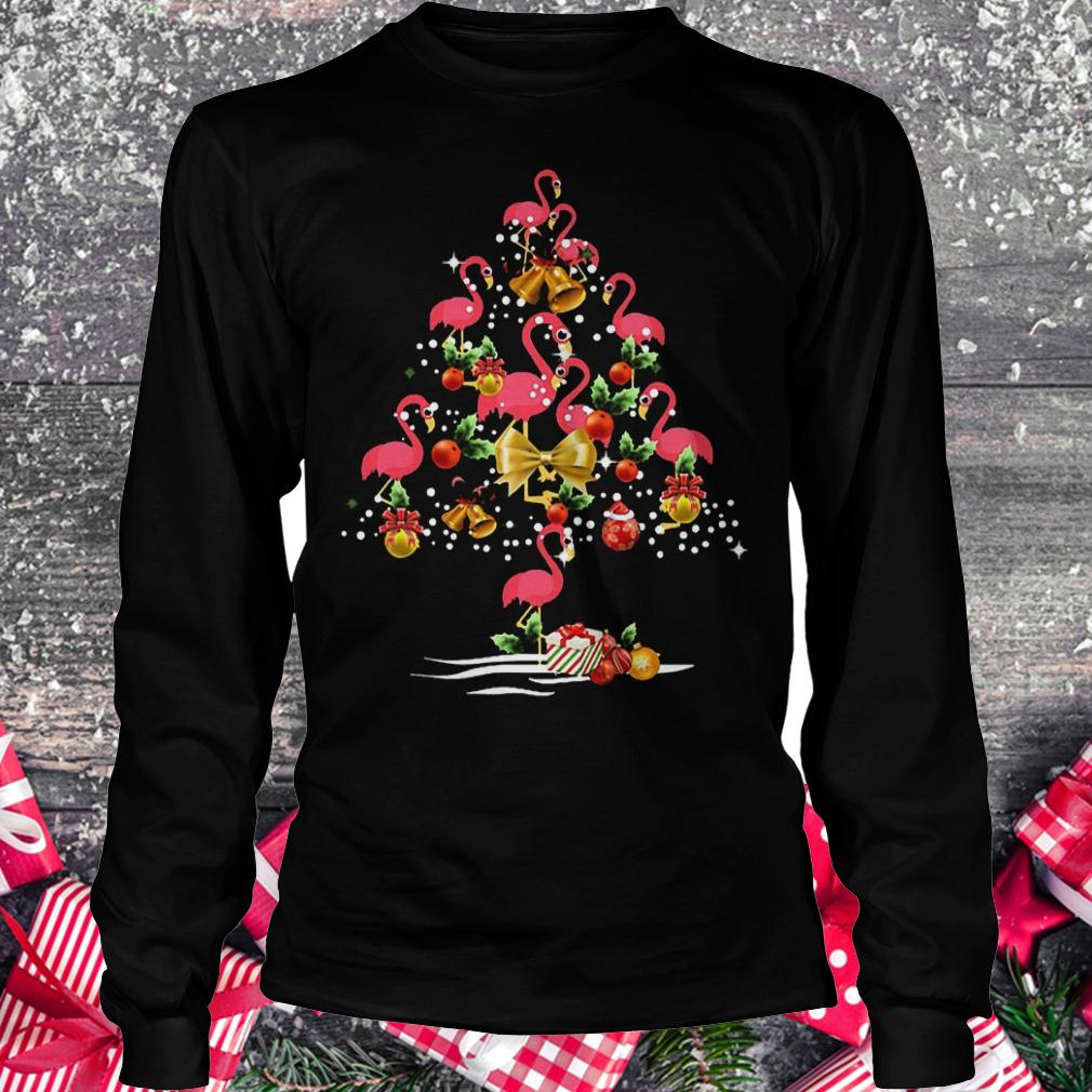 Flamingo Christmas tree shirt Longsleeve Tee Unisex
