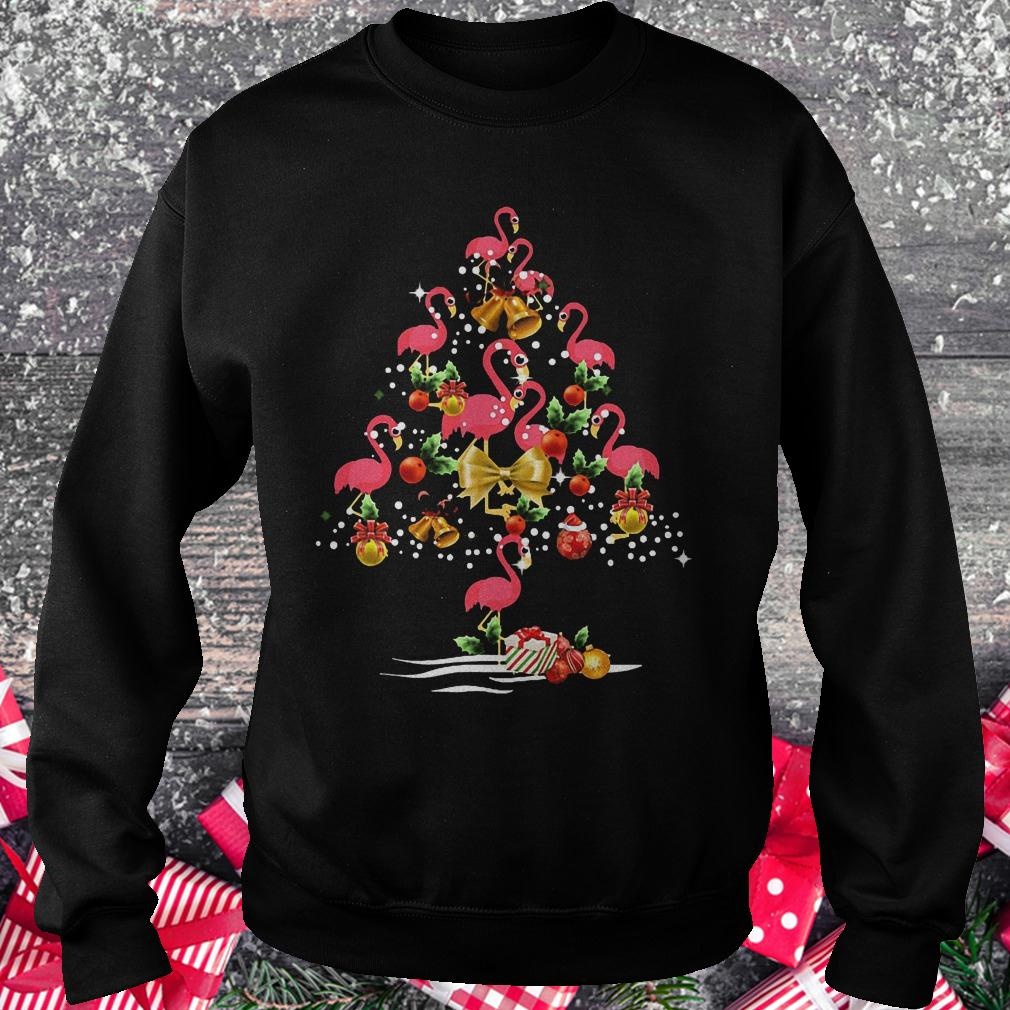 Flamingo Christmas tree shirt Sweatshirt Unisex