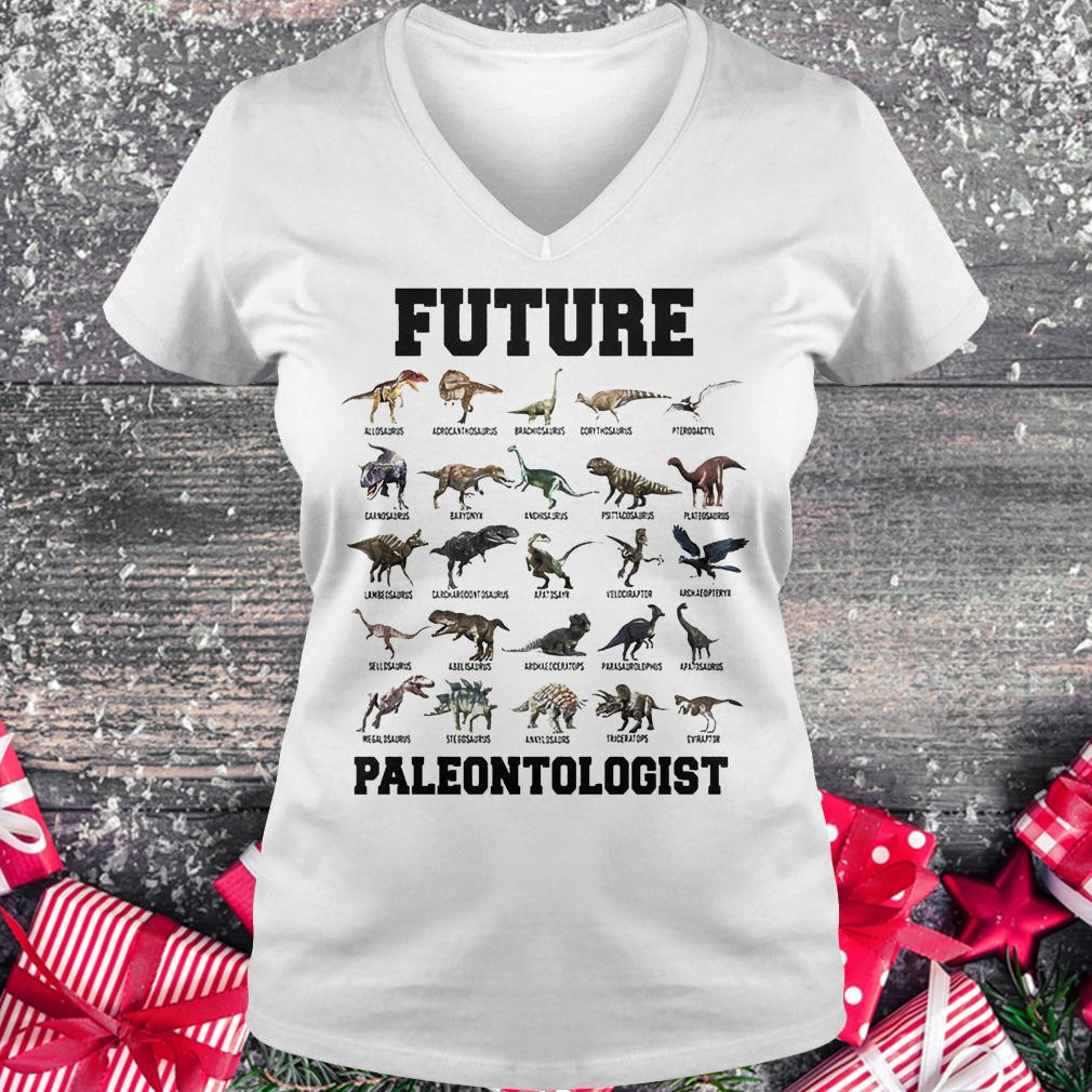 Future paleontologist dinosaur shirt Ladies V-Neck
