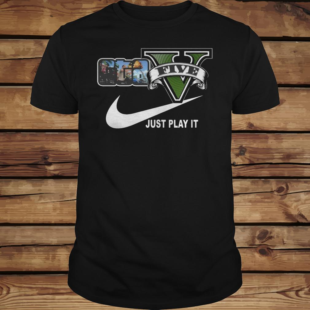 Grand Theft Auto V x Nike Just Play It Logo shirt Classic Guys / Unisex Tee