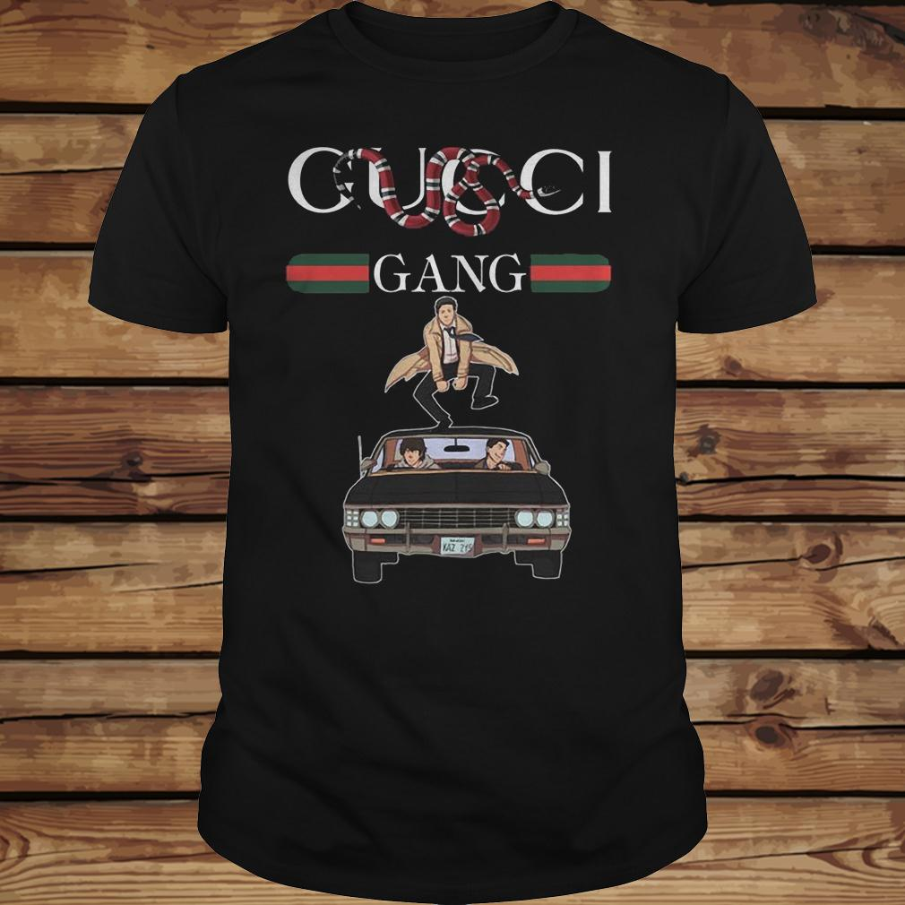 Gucci Gang Gucci Stripe Stay Stylish Supernatural shirt Classic Guys / Unisex Tee
