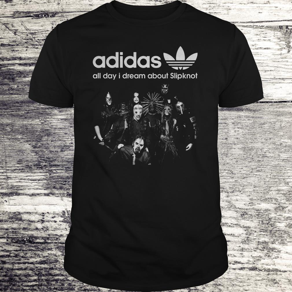 Halloween Adidas All Day I Dream About Slipknot Shirt Classic Guys / Unisex Tee