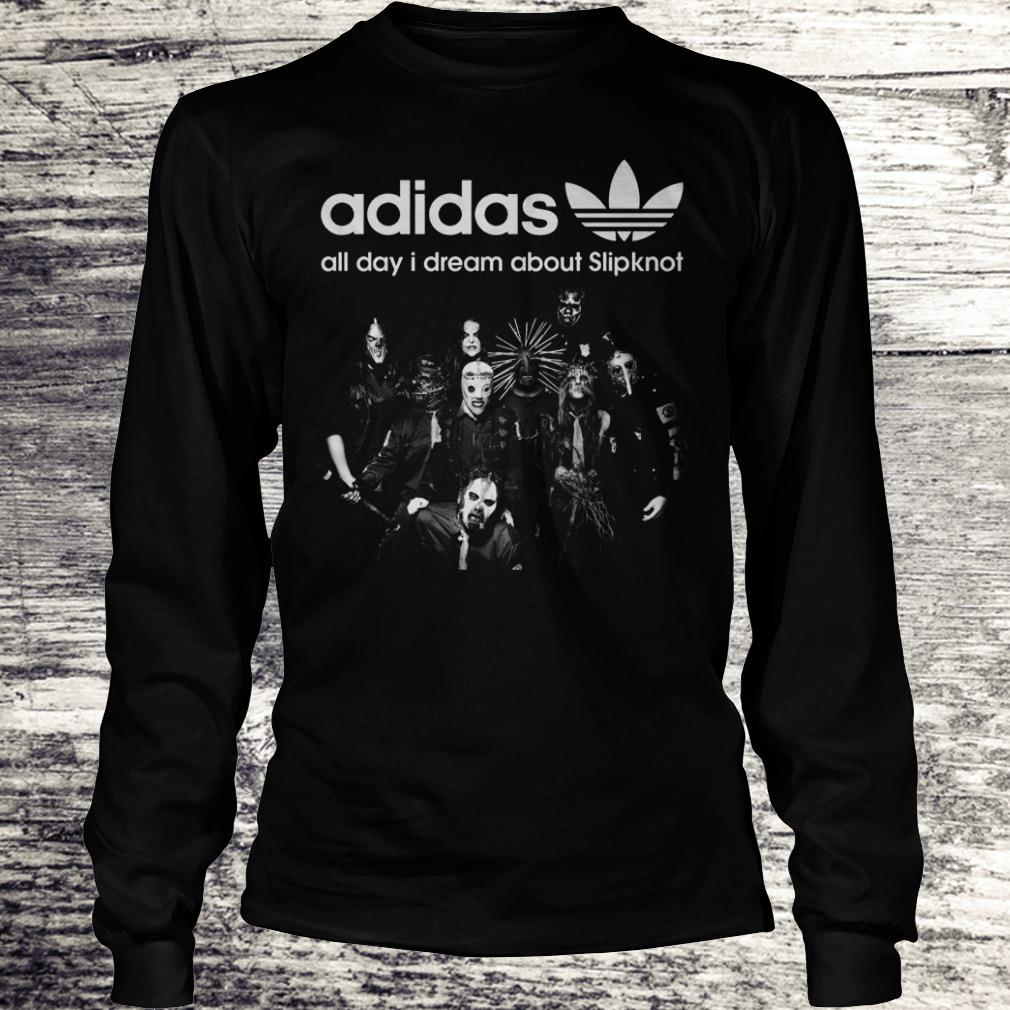 Halloween Adidas All Day I Dream About Slipknot Shirt Longsleeve Tee Unisex
