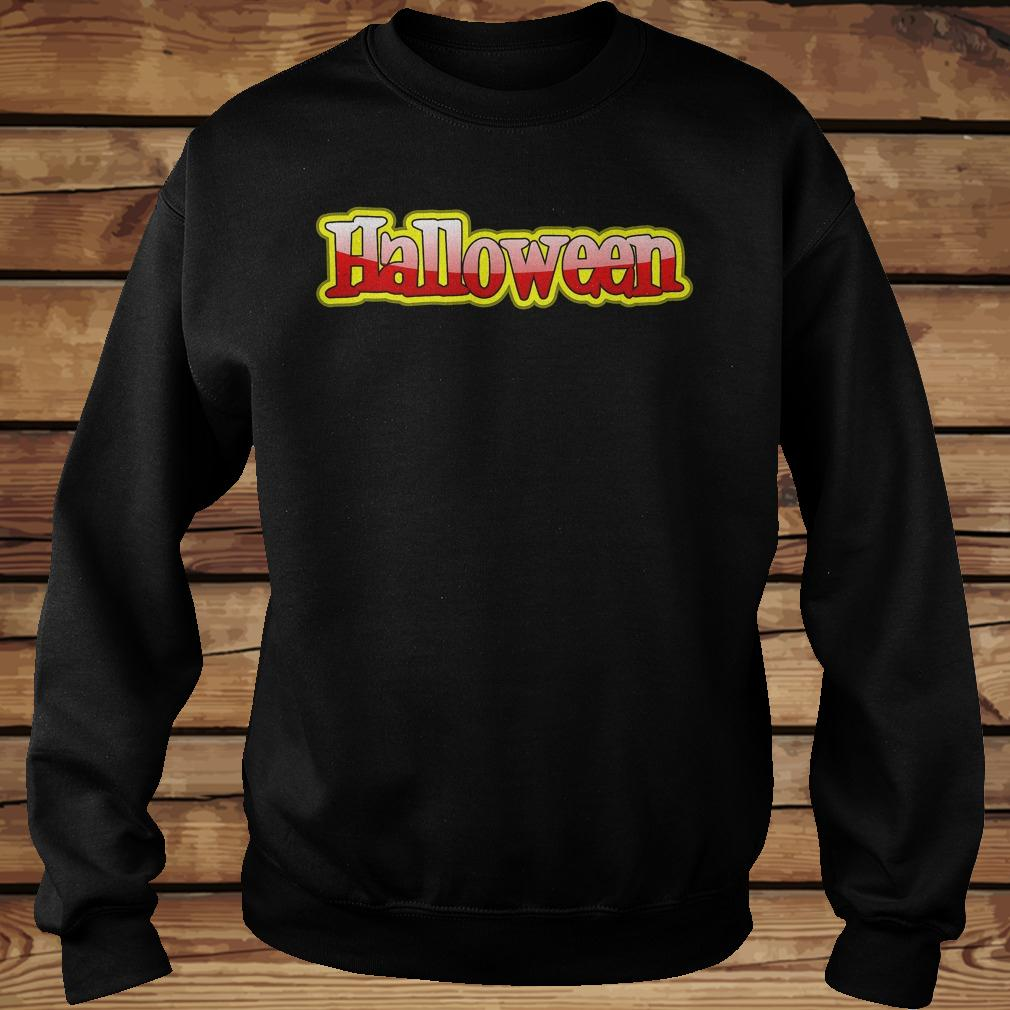 Halloween clipart text banner shirt Sweatshirt Unisex