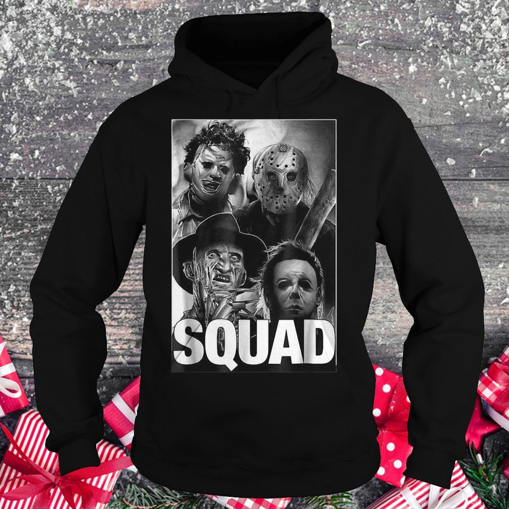 Halloween squad horror Freddy Jason Michael Myers and Leatherface shirt Hoodie