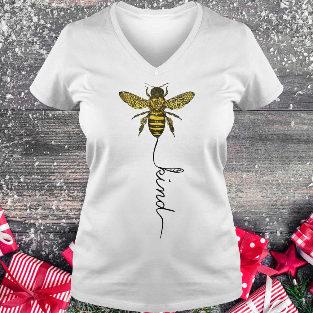 Happy bees kind for bees shirt Ladies V-Neck