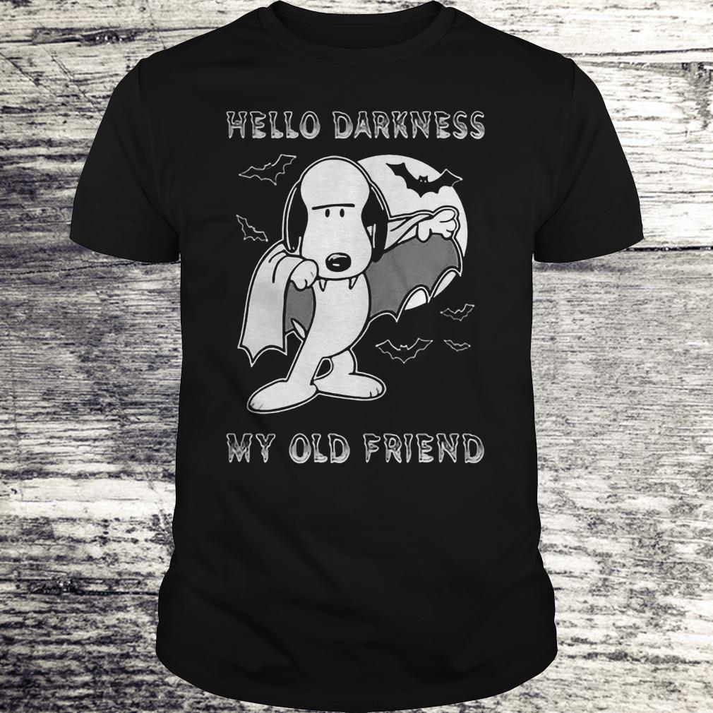 Hello Darkness My Old Friend The Sound Of Silence Snoopy Dracula Shirt Classic Guys / Unisex Tee