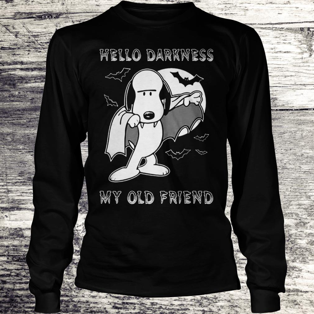 Hello Darkness My Old Friend The Sound Of Silence Snoopy Dracula Shirt Longsleeve Tee Unisex