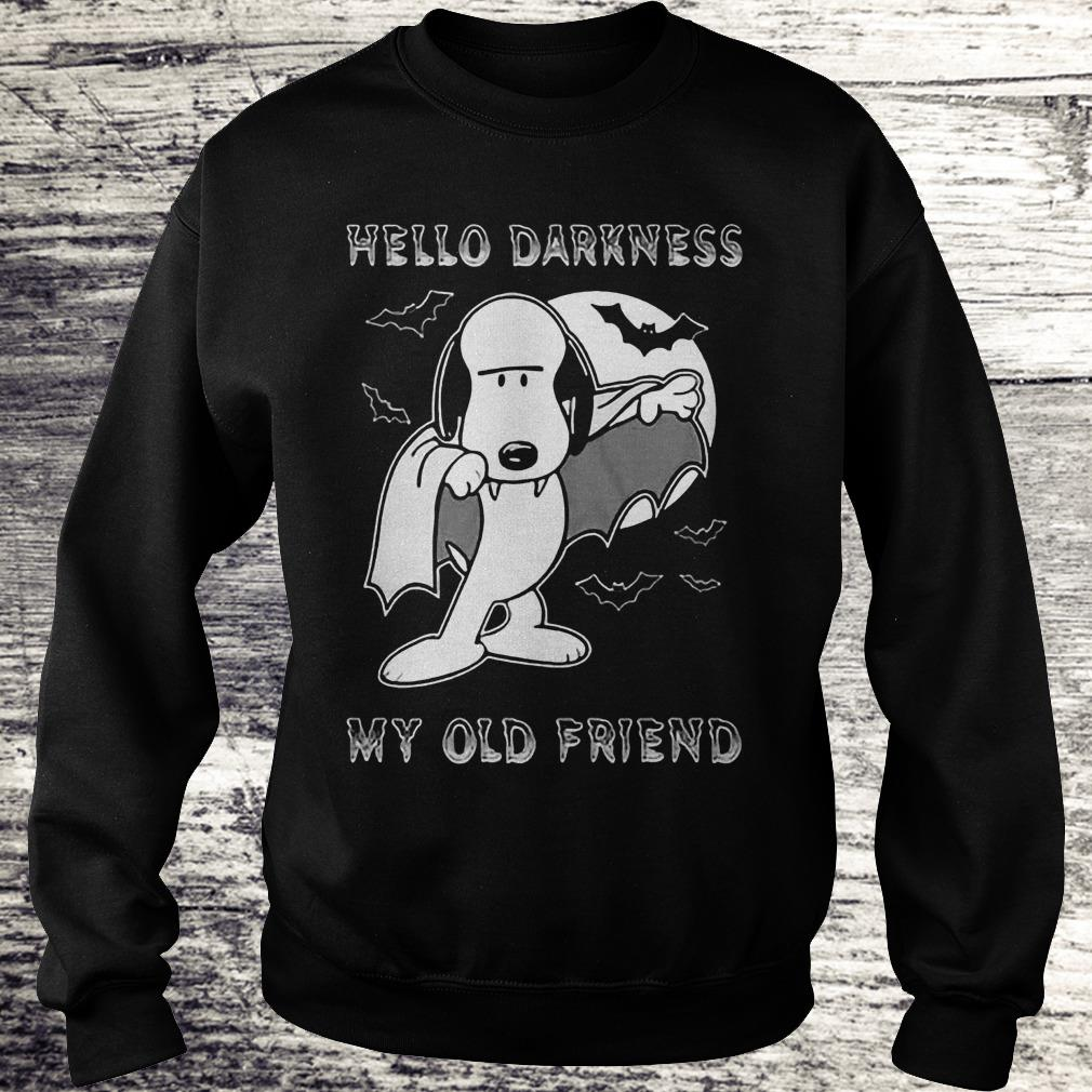 Hello Darkness My Old Friend The Sound Of Silence Snoopy Dracula Shirt