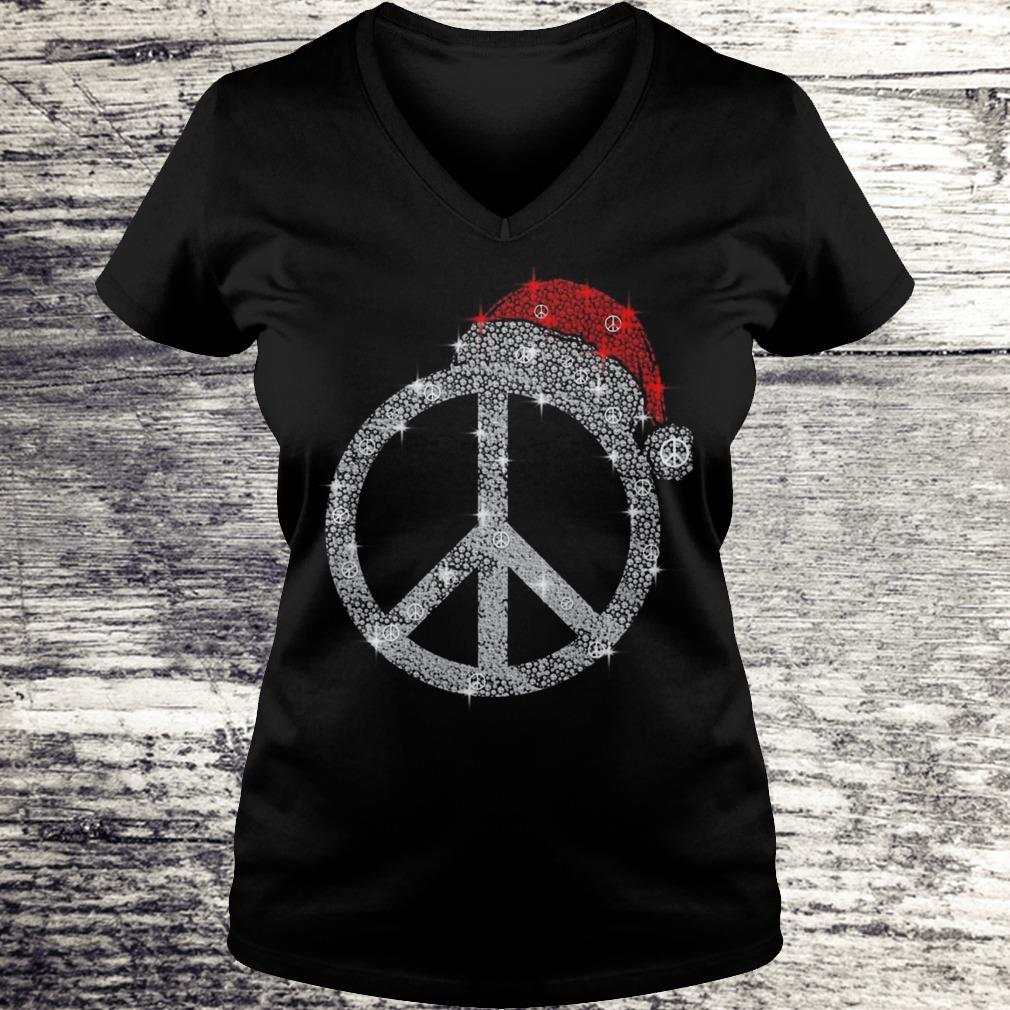 Hippie hat diamond Christmas Shirt Ladies V-Neck