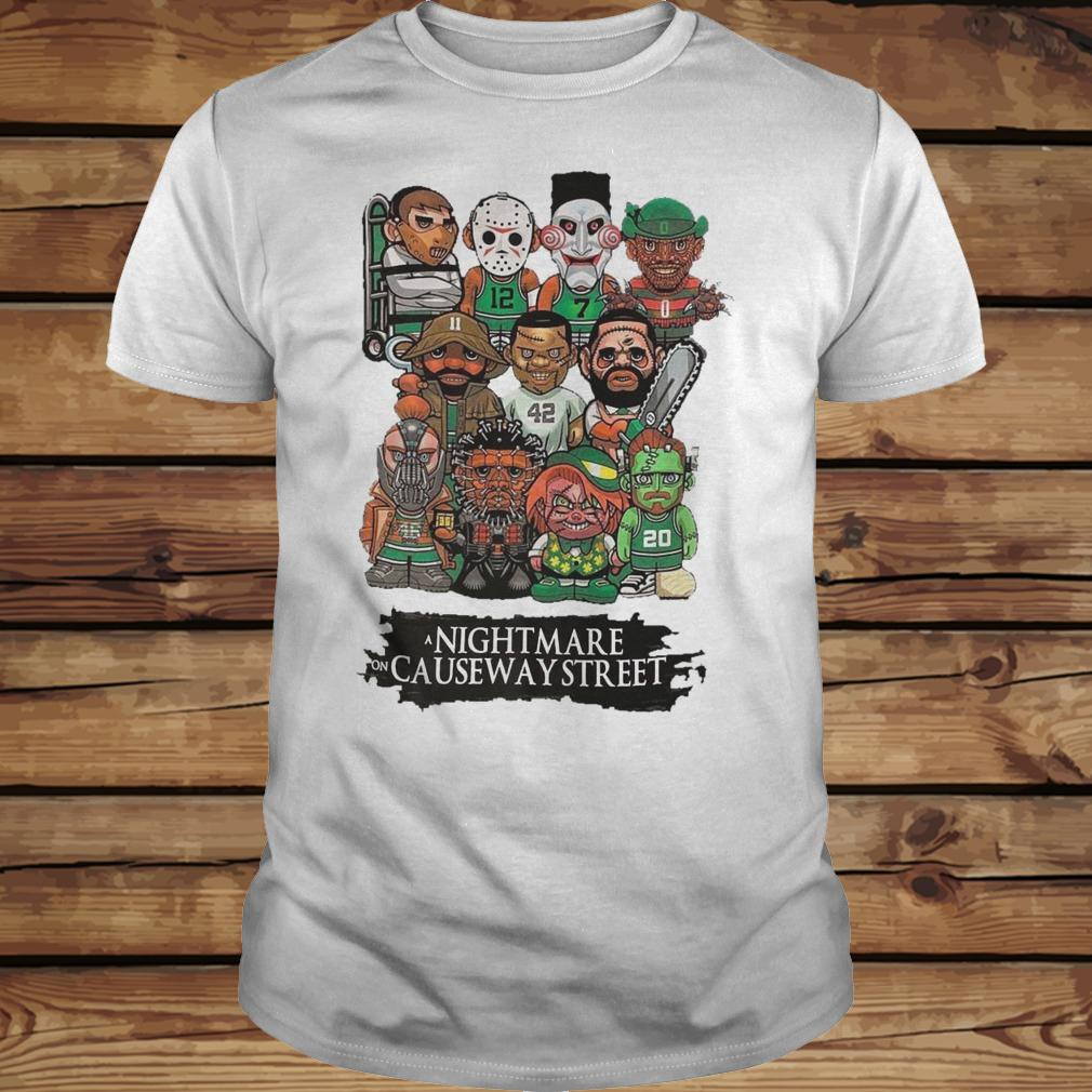 Horror Characters Nightmare On Causeway Street shirt Classic Guys / Unisex Tee