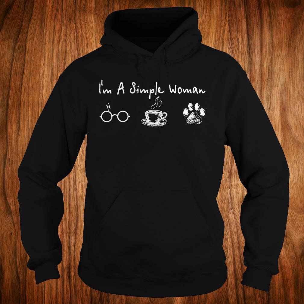 Hot I'm a simple woman I like Harry Potter Coffee and Dog shirt