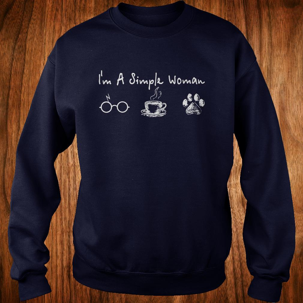 Hot I'm a simple woman I like Harry Potter Coffee and Dog shirt Sweatshirt Unisex