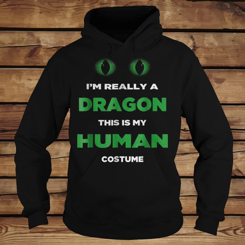 I'm Really A Dragon This Is My Human Costume shirt Hoodie