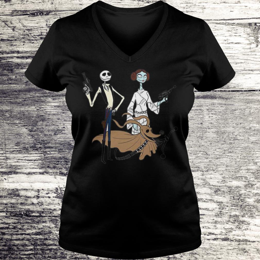 Jack Skellington, Sally And Zero As Star Wars Shirt Ladies V-Neck