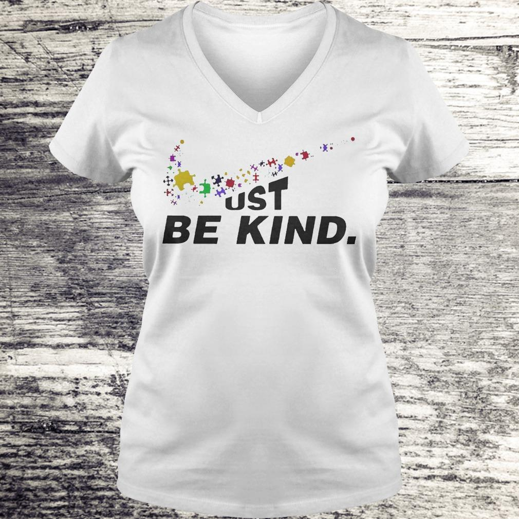 Just Be Kind - Autism Awareness Shirt Ladies V-Neck