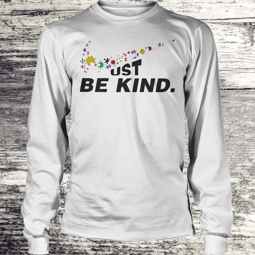 Just Be Kind - Autism Awareness Shirt Longsleeve Tee Unisex