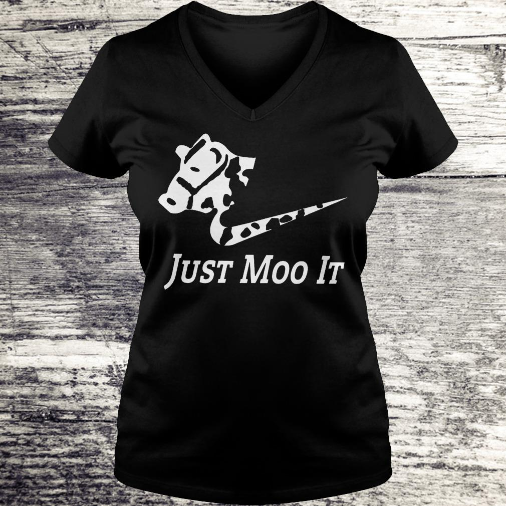 Just Moo It - Cow Shirt Ladies V-Neck