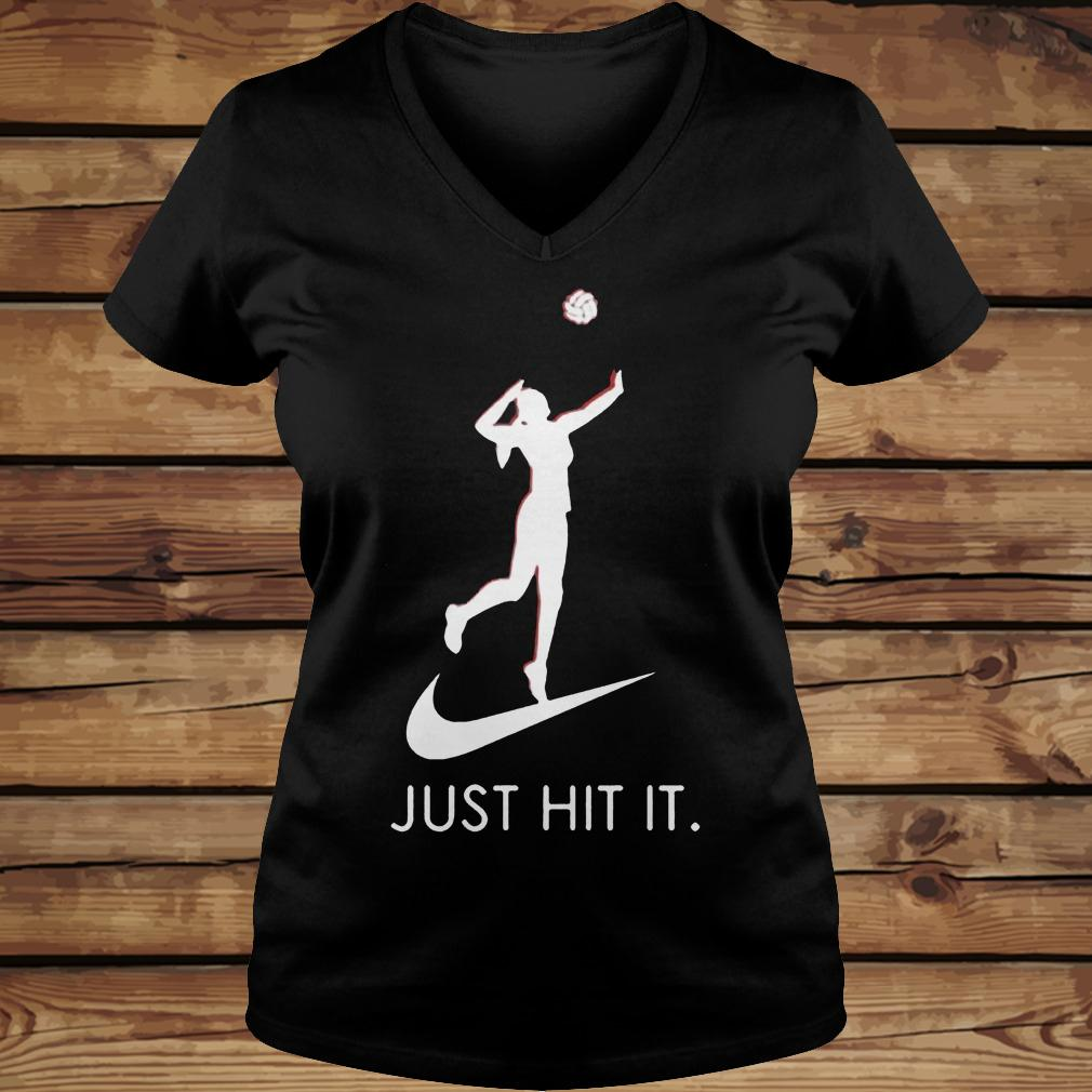 Just hit it Volleyball shirt Ladies V-Neck