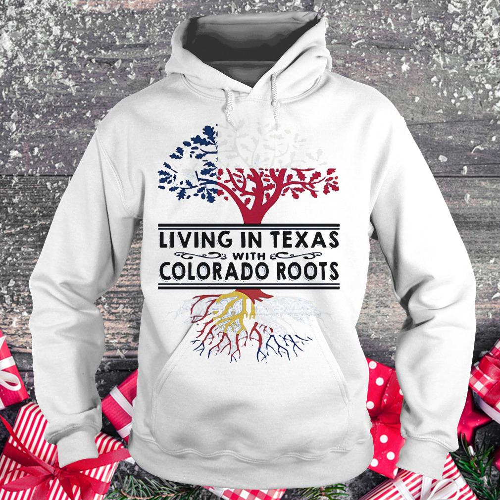 Living in texas with Colorado roots Hoodie