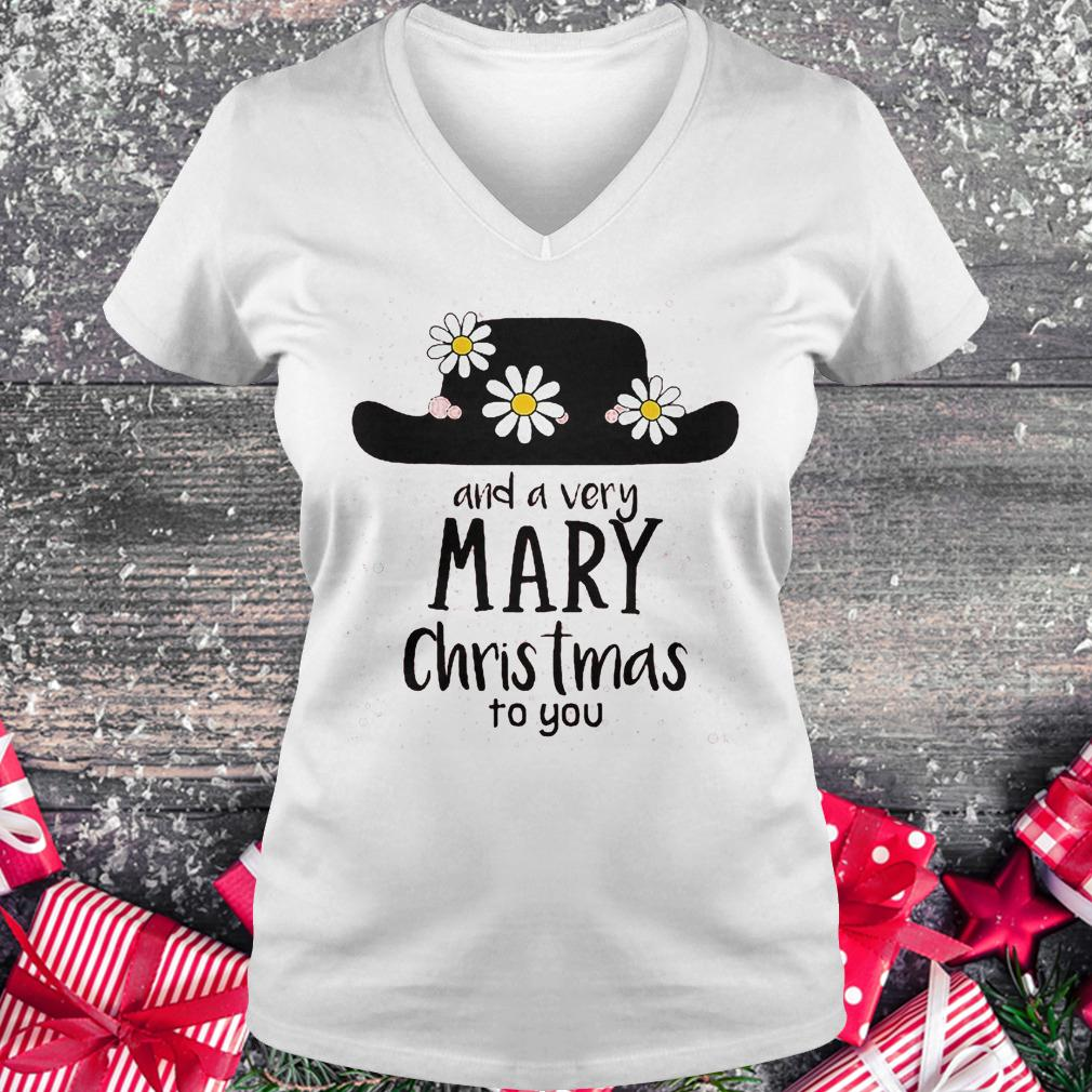 Mary Poppins and a very mary Christmas to you shirt Ladies V-Neck