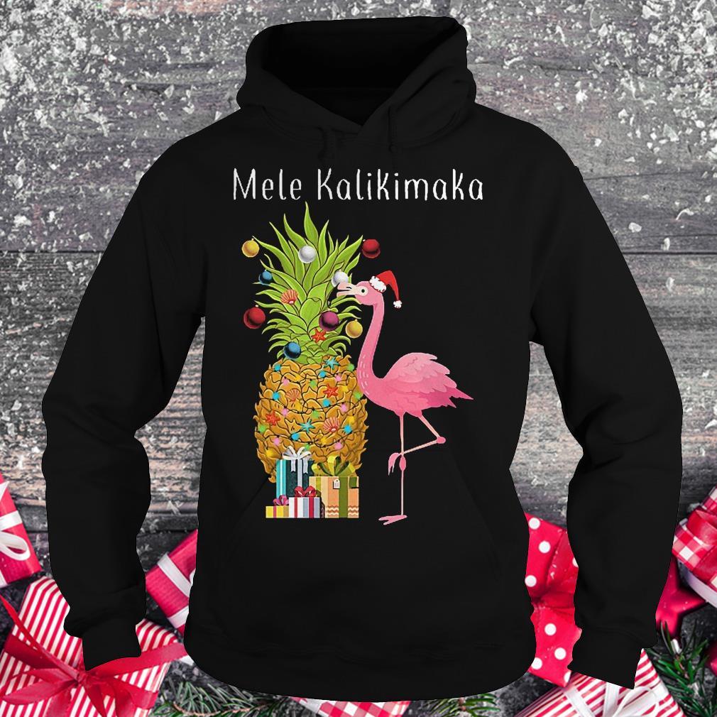 Mele Kalikimaka flamingo shirt Hoodie