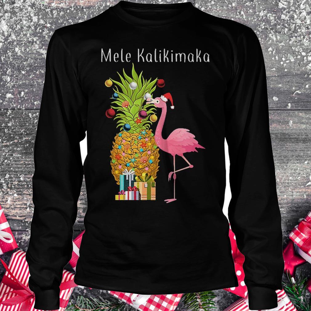Mele Kalikimaka flamingo shirt Longsleeve Tee Unisex