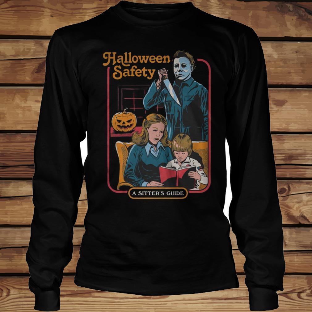 01666e98 Michael Myers Halloween Safety A Sister's Guide T-Shirt - TeeNavi shirt  Longsleeve Tee Unisex