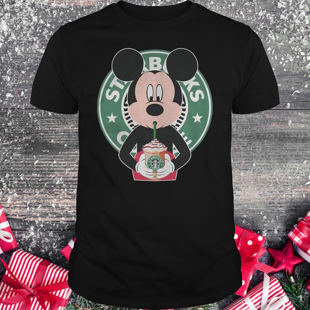 Mickey Mouse Drinks Starbucks Coffee Shirt Classic Guys Unisex Tee.jpg