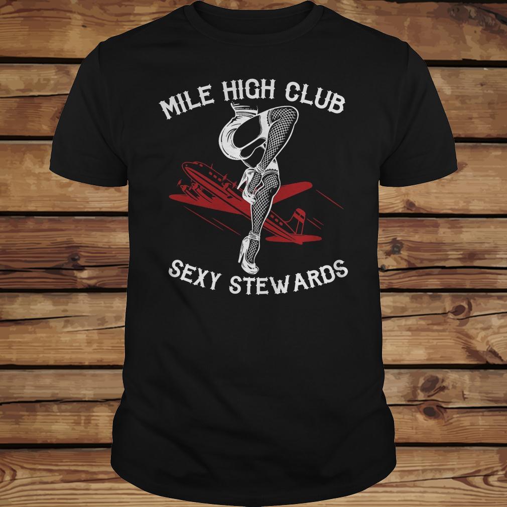 Mile high club sexy stewards shirt