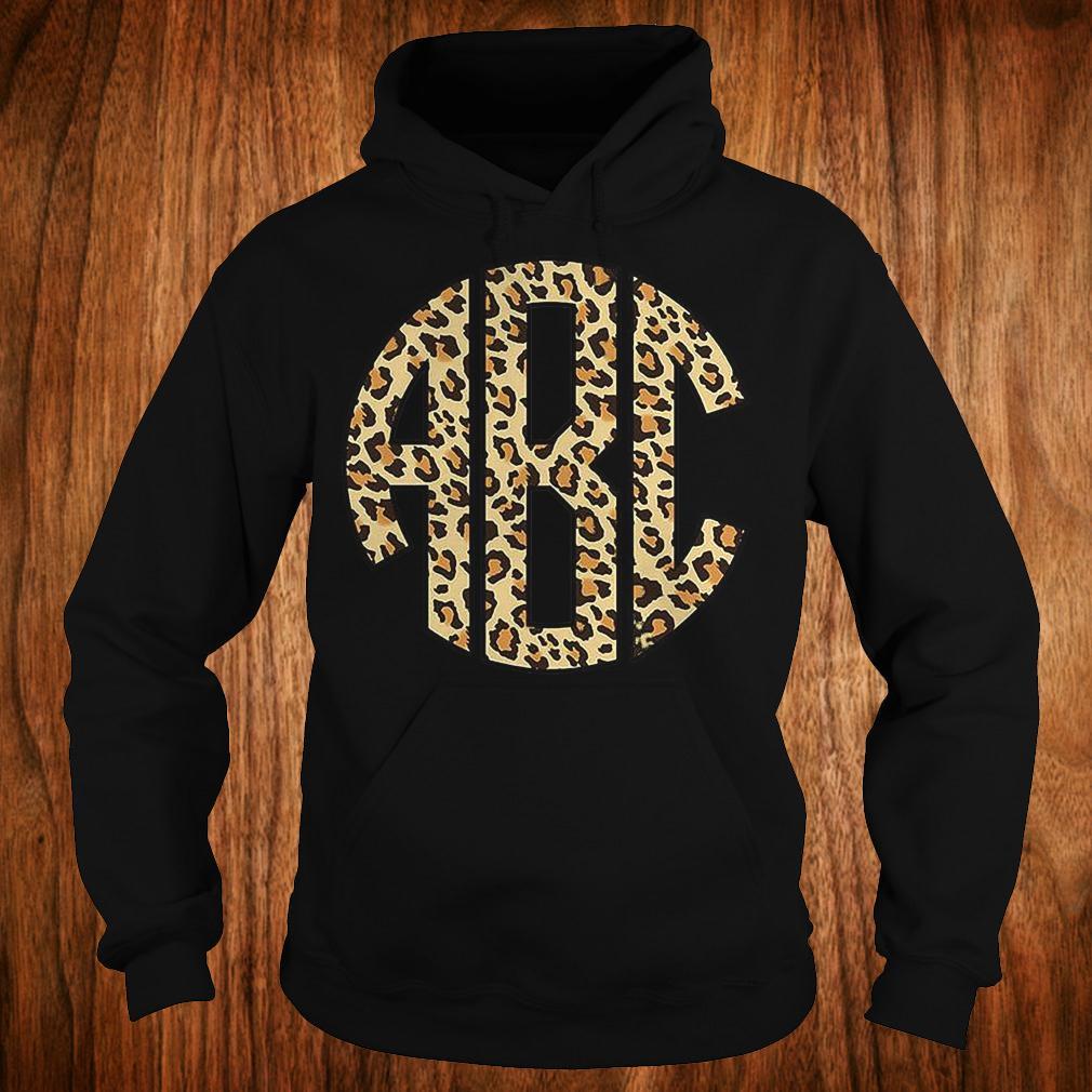 Monogrammed leopard big print shirt Hoodie