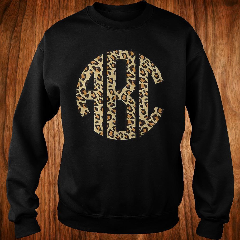 Monogrammed leopard big print shirt Sweatshirt Unisex