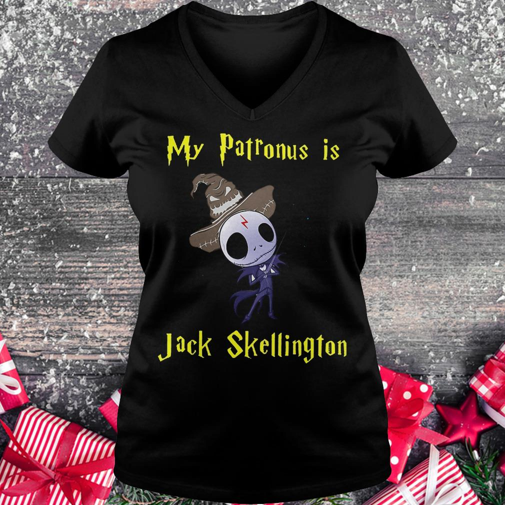 My patronus is Jack Skellington shirt Ladies V-Neck