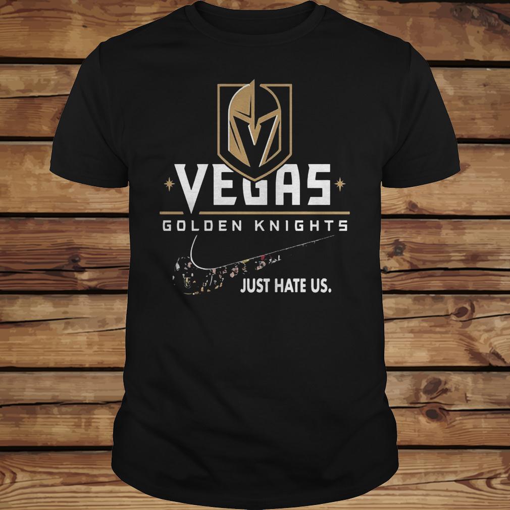 NHL Team Vegas Golden Knights x Nike Just Hate Us Hockey shirt Classic Guys / Unisex Tee