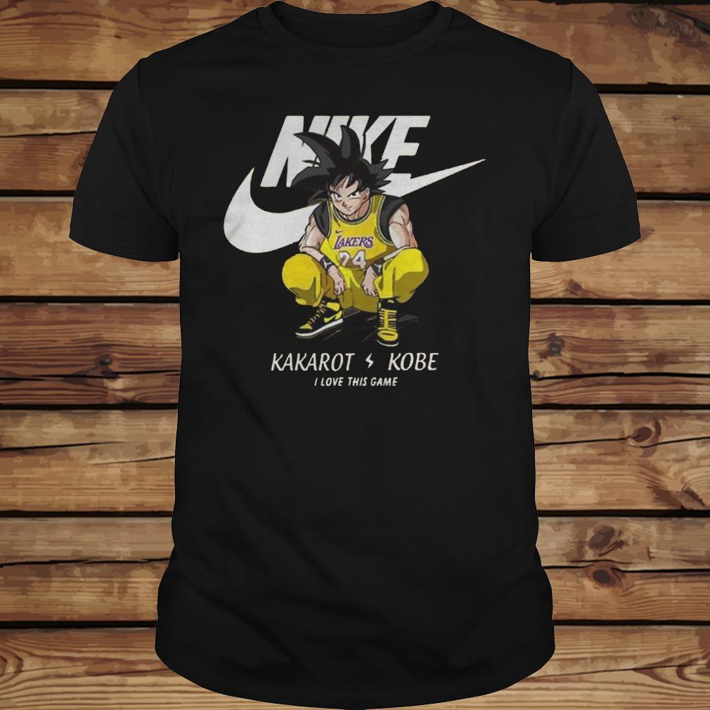Nike Kakarot Kobe I Love This Game shirt Classic Guys / Unisex Tee
