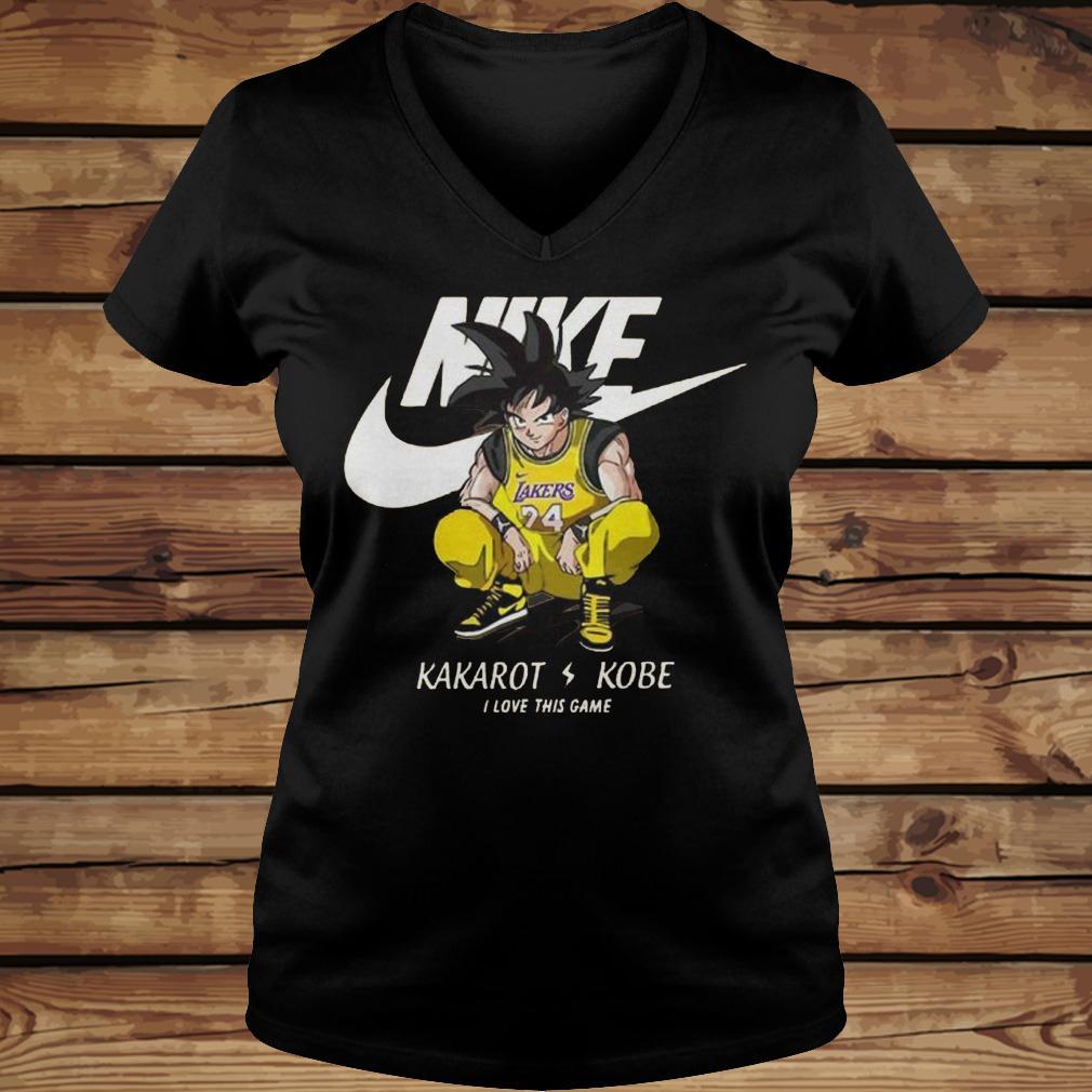 Nike Kakarot Kobe I Love This Game shirt Ladies V-Neck