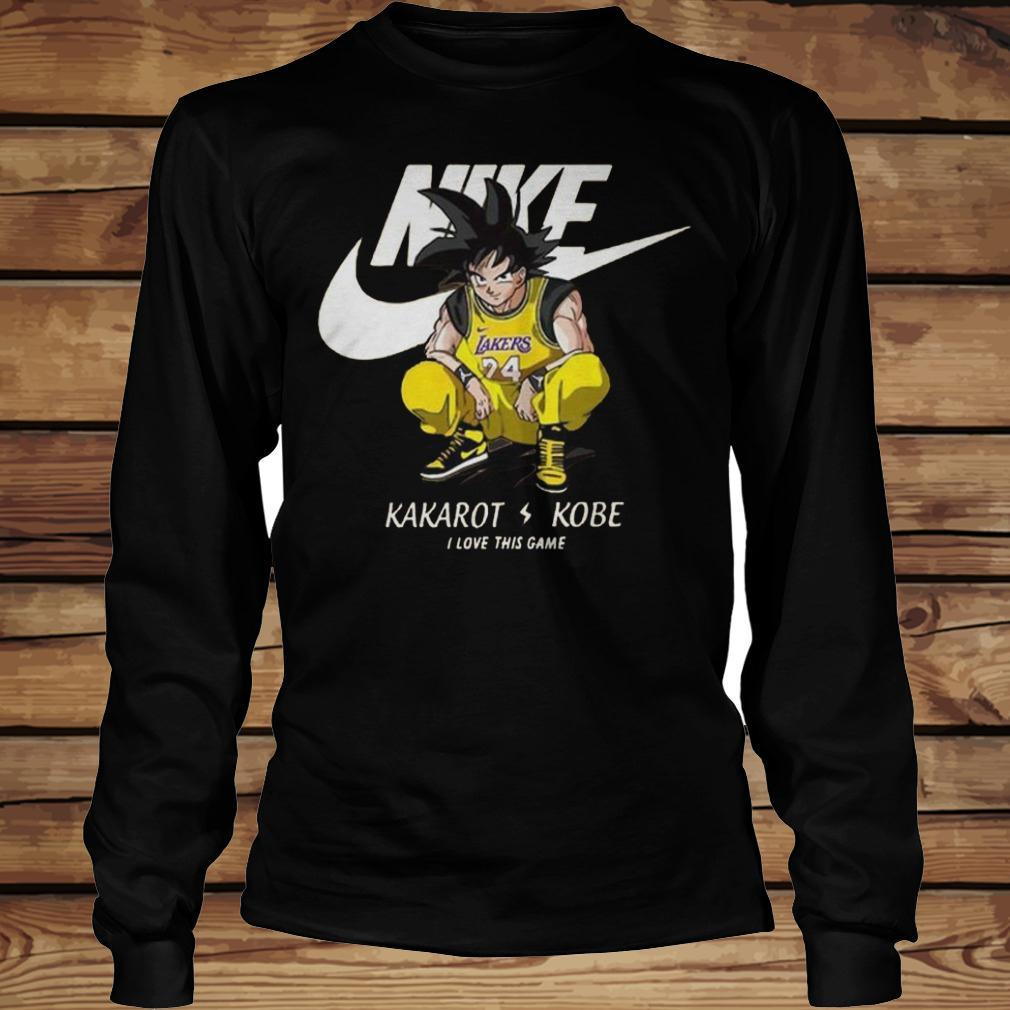 Nike Kakarot Kobe I Love This Game shirt Longsleeve Tee Unisex