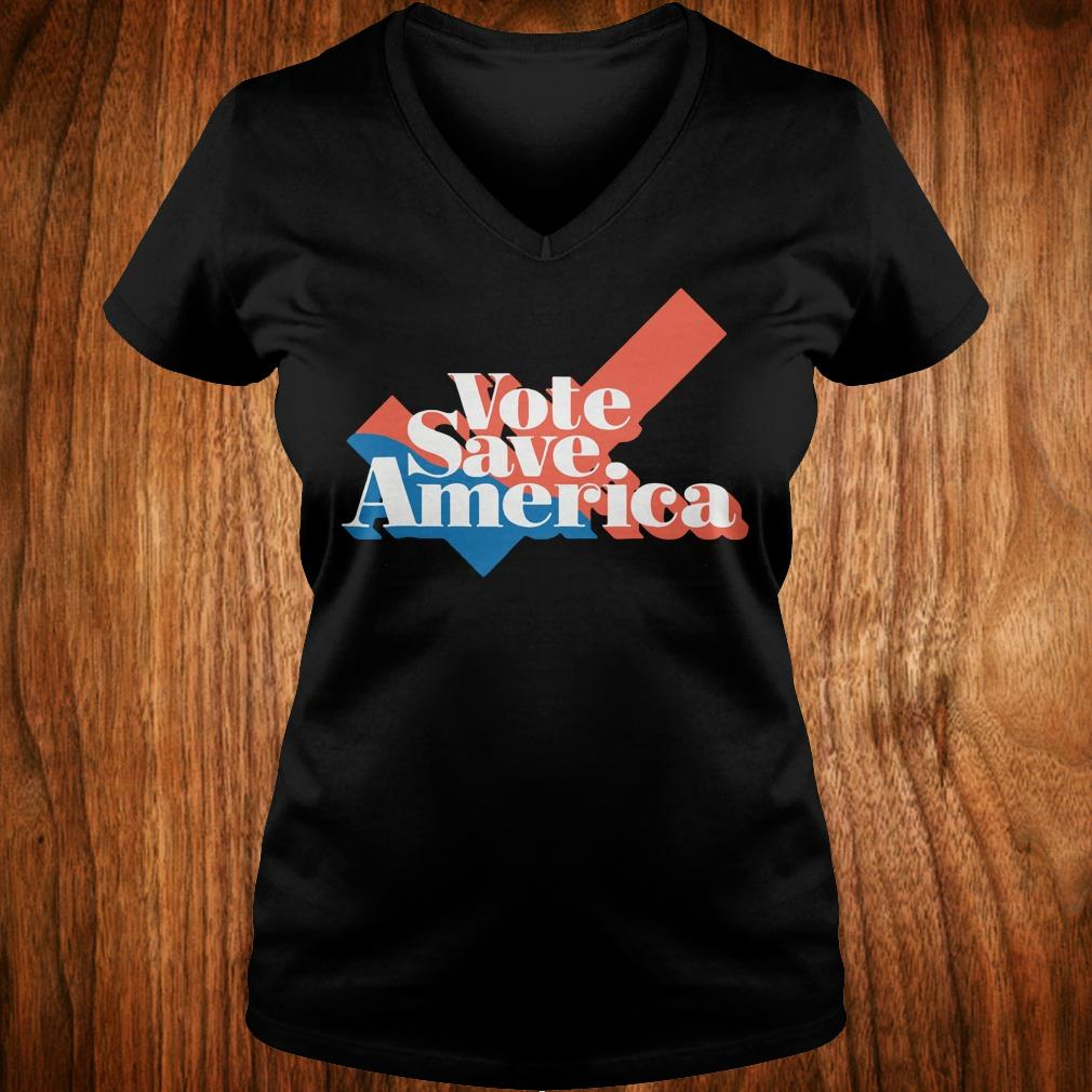 Official Vote save america shirt Ladies V-Neck