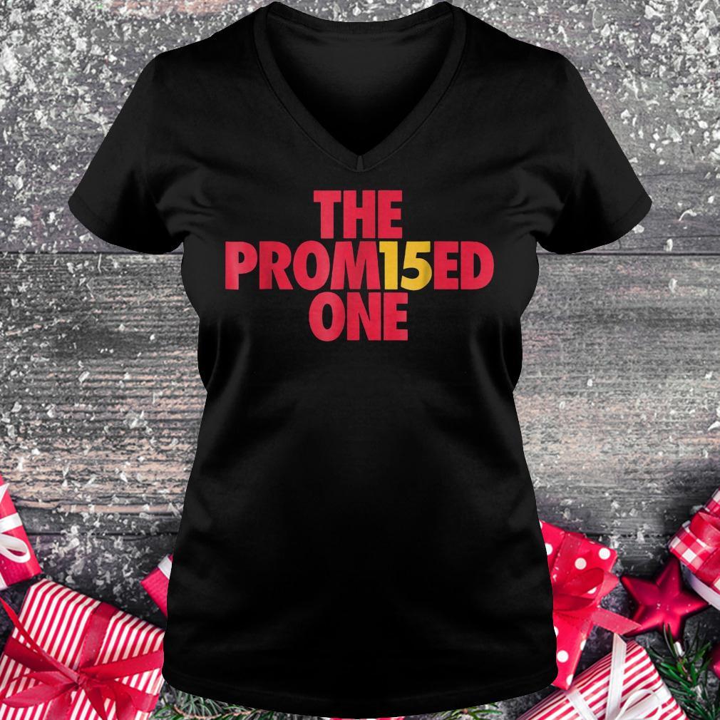 Patrick the promised one Mahomes Kansas city KC football shirt Ladies V-Neck