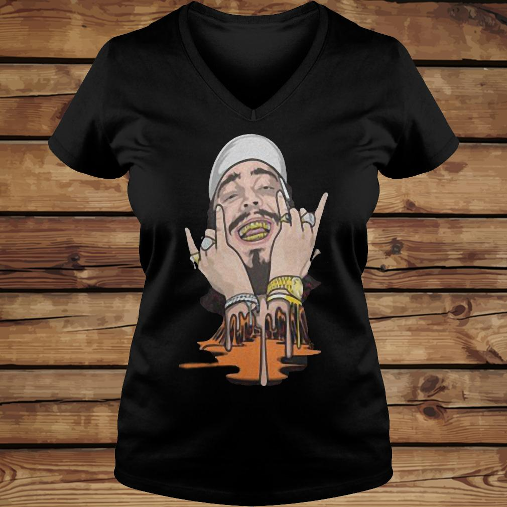 Post Malone rap hip hop shirt Ladies V-Neck