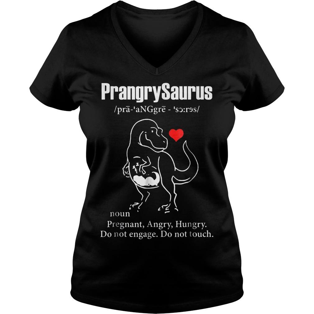 PrangrySaurus Definition Ladies V-Neck