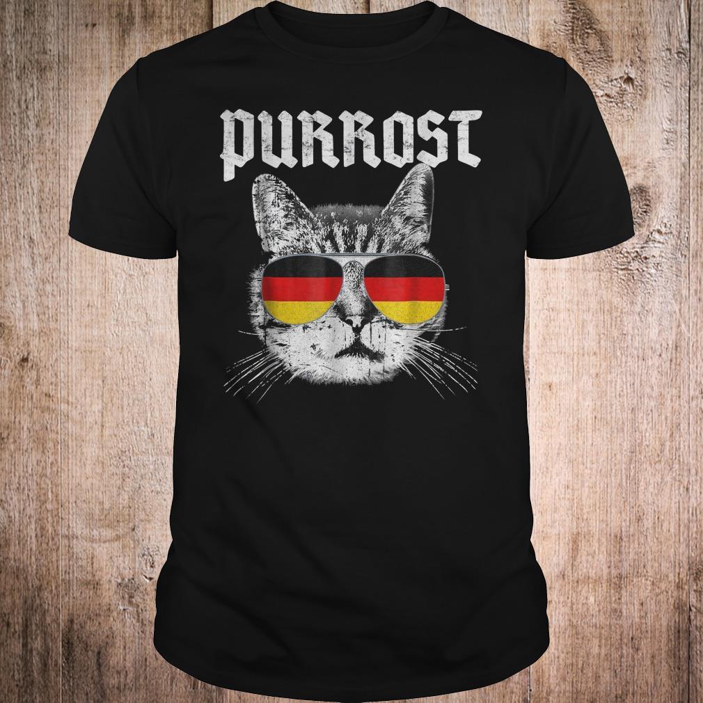 Purrost funny cat prost German flag shirt