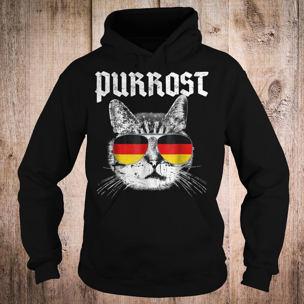 Purrost funny cat prost German flag shirt Hoodie