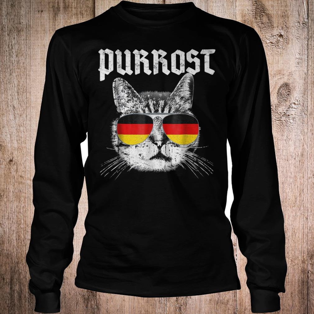 Purrost funny cat prost German flag shirt Longsleeve Tee Unisex